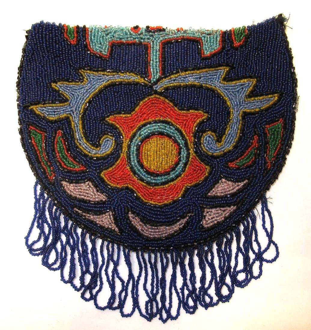 Amazing Colorful Indian Beadwork w/Beaded Loop Fringe
