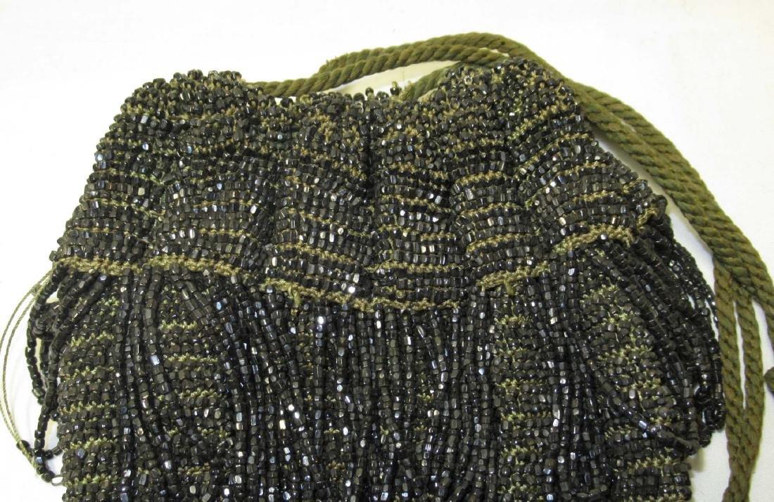 Antique Heavily Beaded w/Black Iridescent Beads - 3