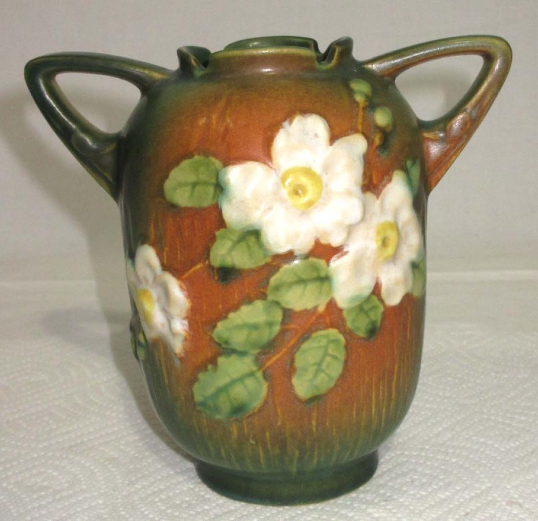 Roseville White Rose Vase 979-6