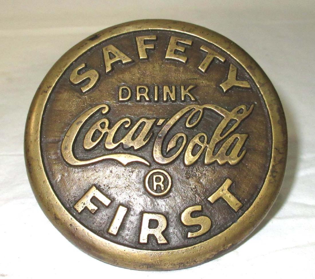 Modern Brass Coca Cola Safety Button