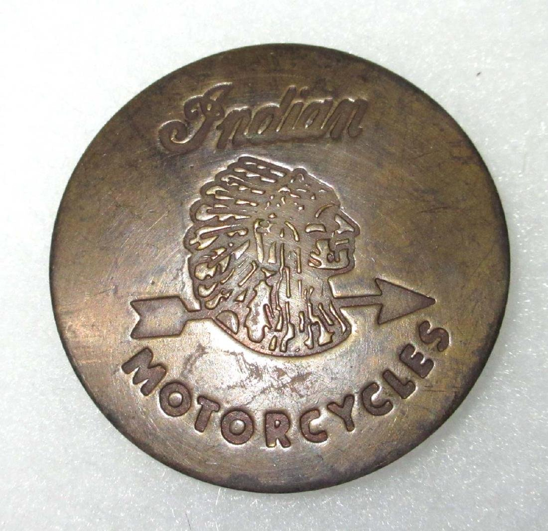 Modern Indian Motorcycle Button