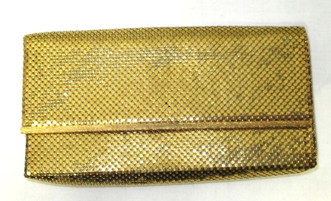 Whiting & Davis Gold Armor Mesh Envelope Clutch, Snap
