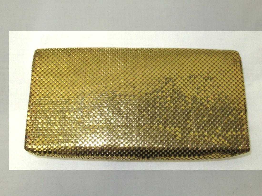 Whiting & Davis Gold Armor Mesh Envelope Clutch, Snap - 2
