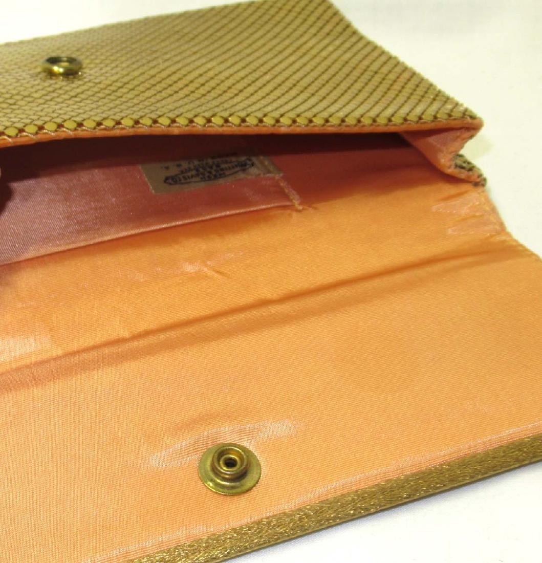 Whiting & Davis Gold Armor Mesh Envelope Clutch, Snap - 3
