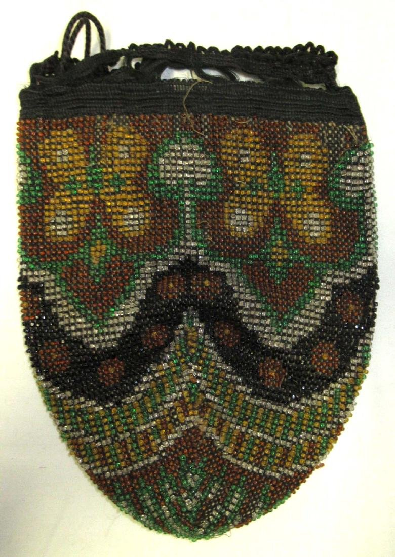 Antique Stylized Beaded Bag-Mid to Late 1800's