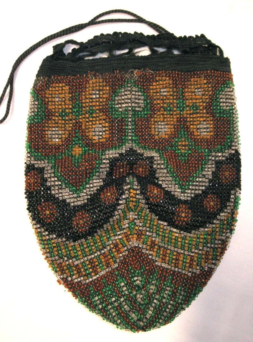 Antique Stylized Beaded Bag-Mid to Late 1800's - 2
