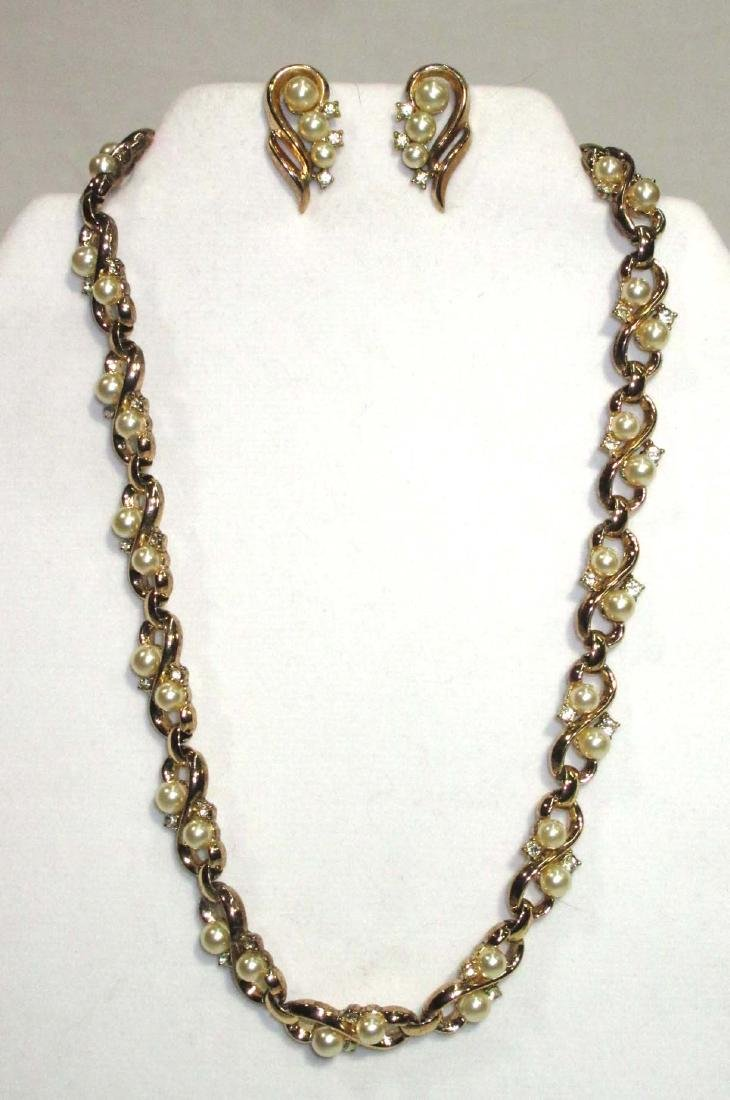 Costume Trifari Necklace & Earrings