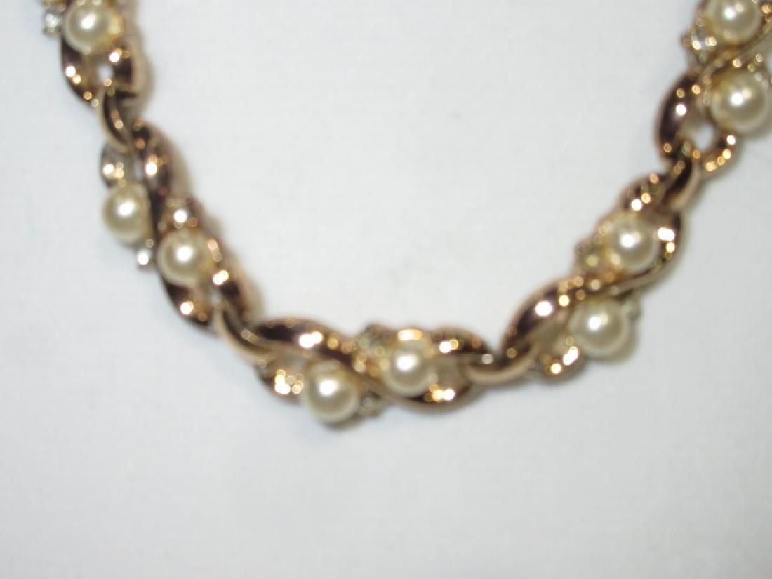 Costume Trifari Necklace & Earrings - 2