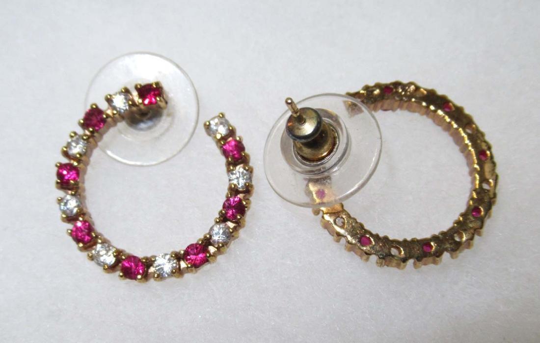 Ruby Glass Bracelet Set & Ruby Earrings - 2