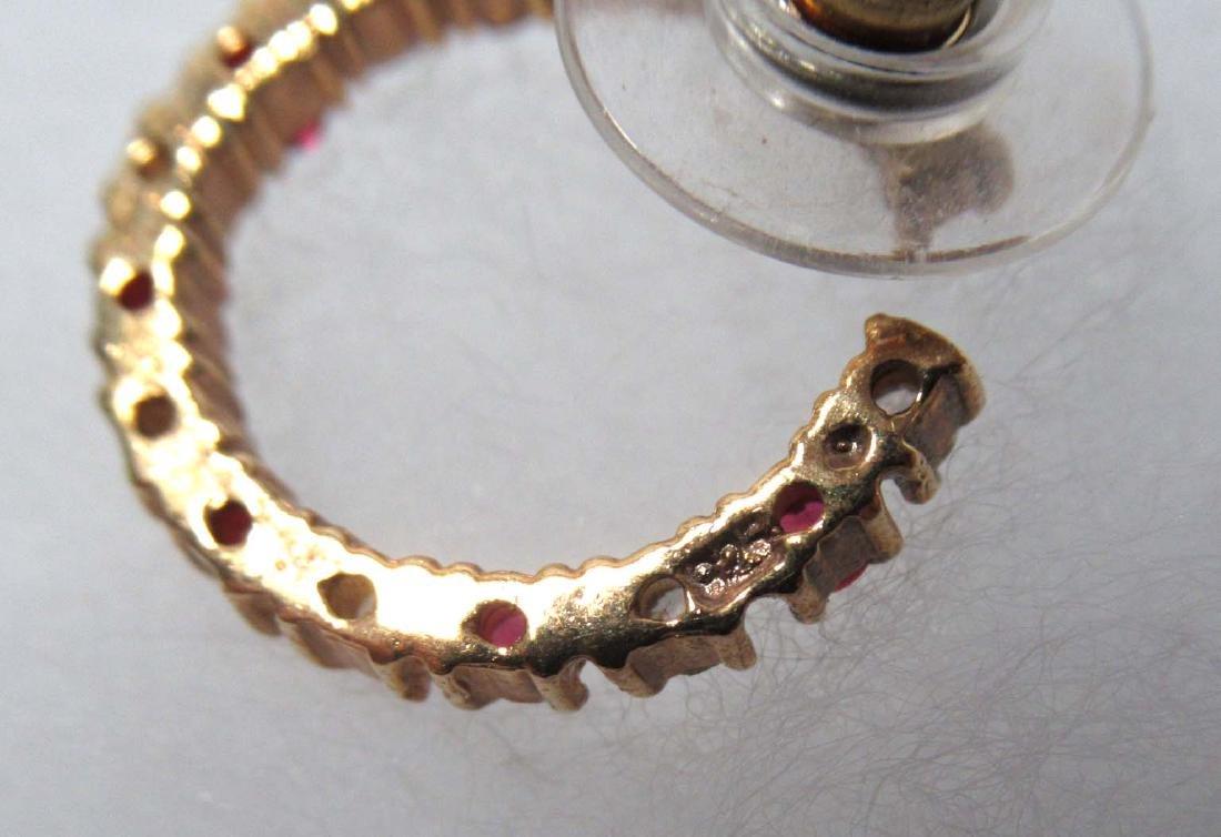 Ruby Glass Bracelet Set & Ruby Earrings - 3