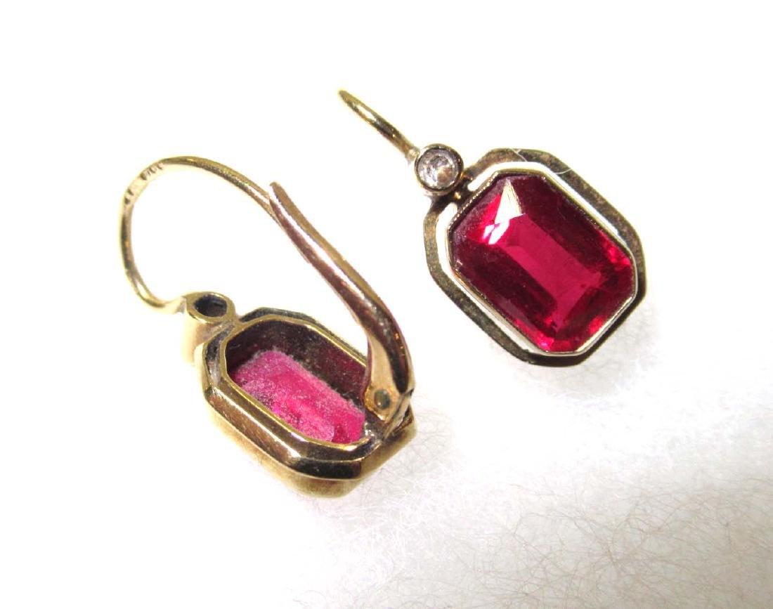 Ruby Glass Bracelet Set & Ruby Earrings - 4