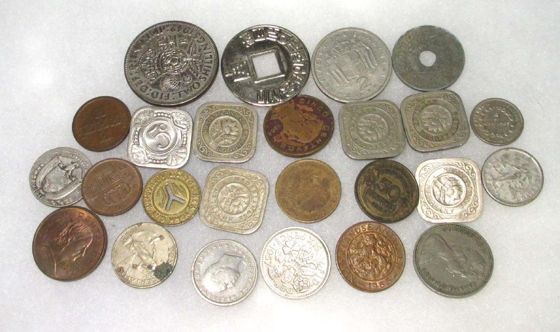 Lot of Foreign Coins & Tokens