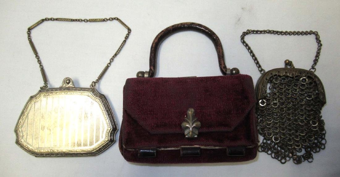 Late 1800's 3pc Victorian Coin Purses