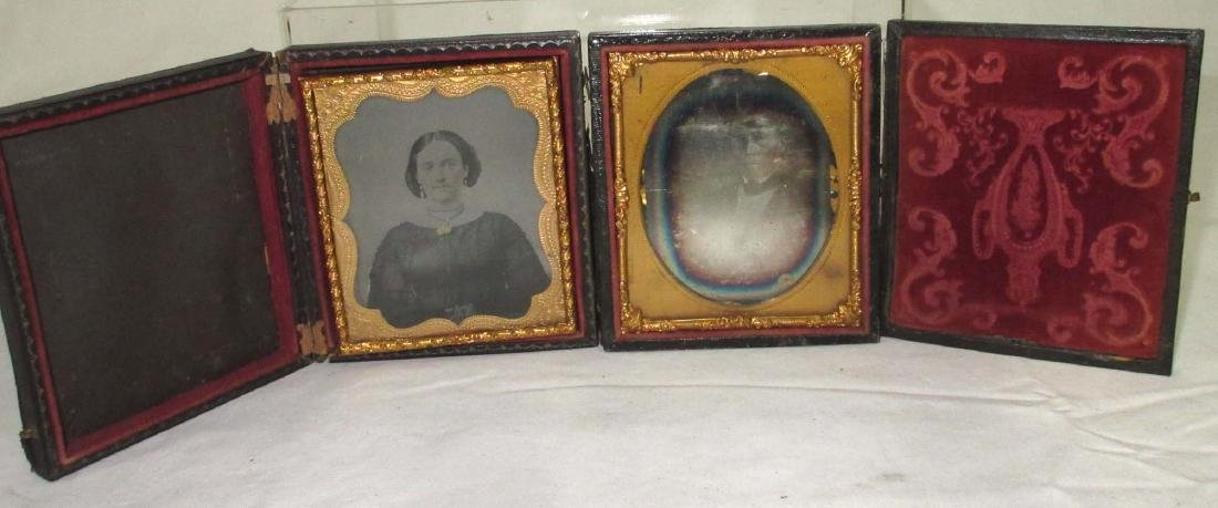 2pc Tin Types in Cases