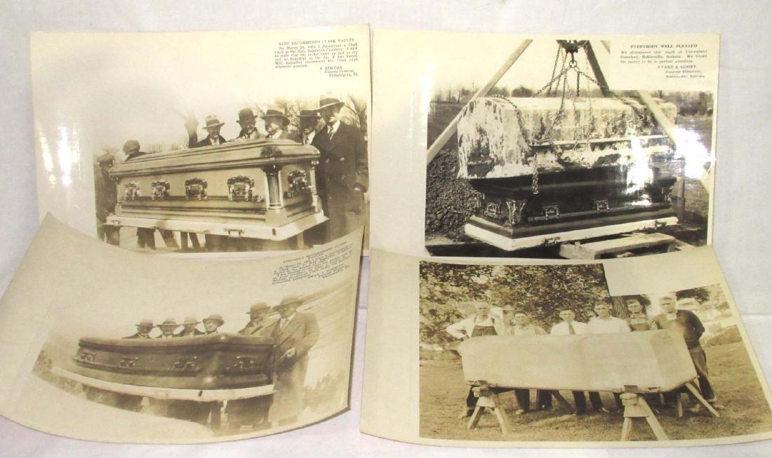 Lot of Clark's Casket Vault Photos