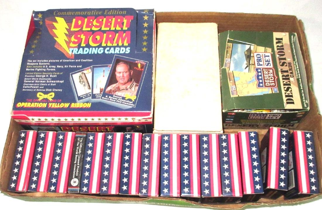 Large Lot of Open & Unopened Desert Storm Trade Cards