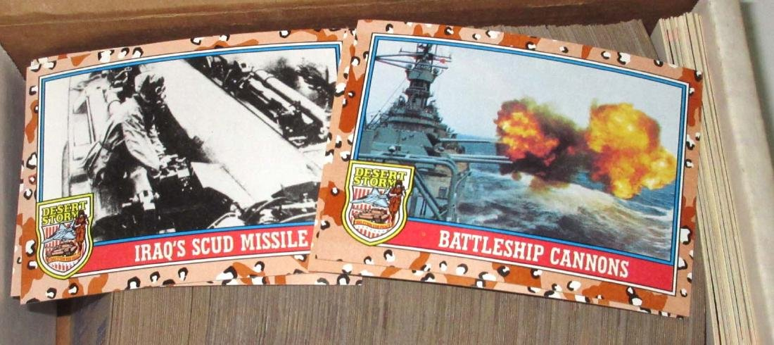 Large Lot of Open & Unopened Desert Storm Trade Cards - 4