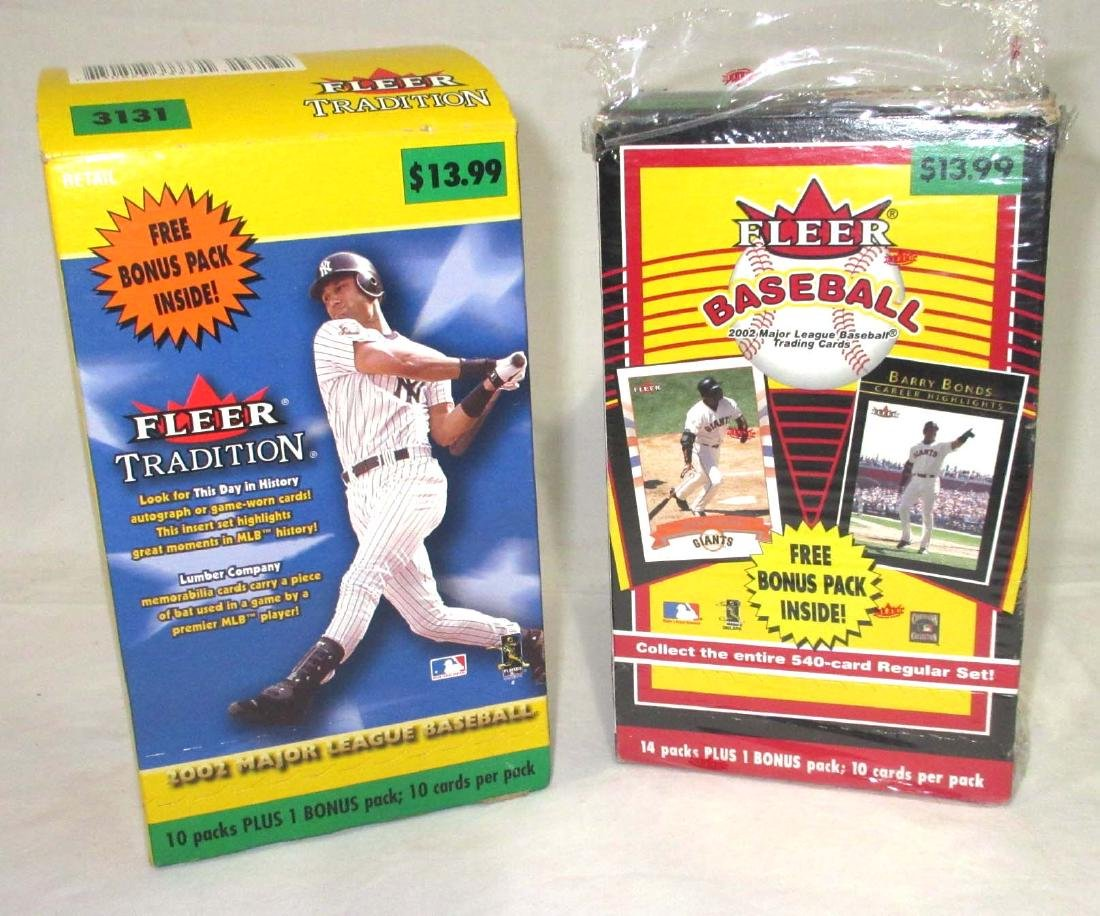 2pc NIB 2002 Fleer Baseball Cards