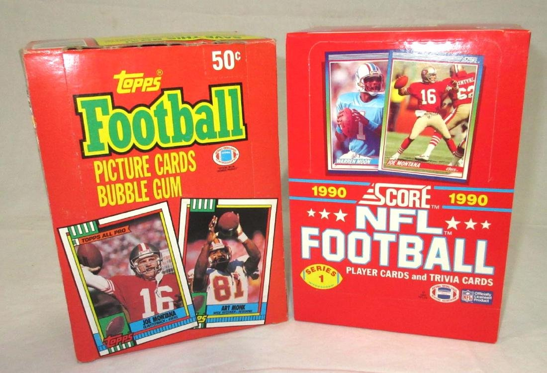 (2) 1990 Tops & Score Football Cards NIB