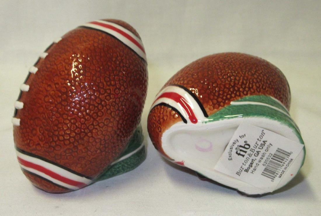3pc Football Helmet Cookie Jar, S & P - 3