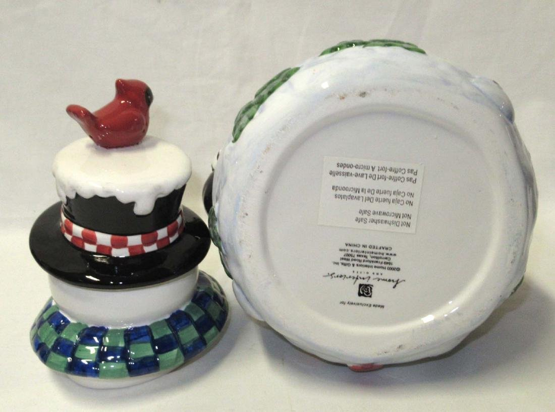 Snowman Cookie Jar - 2