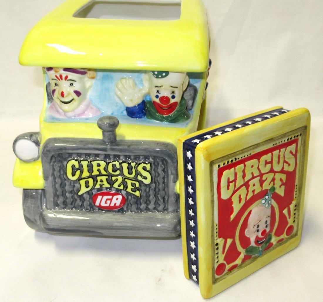 IGA Circus Daze Cookie Jar - 2