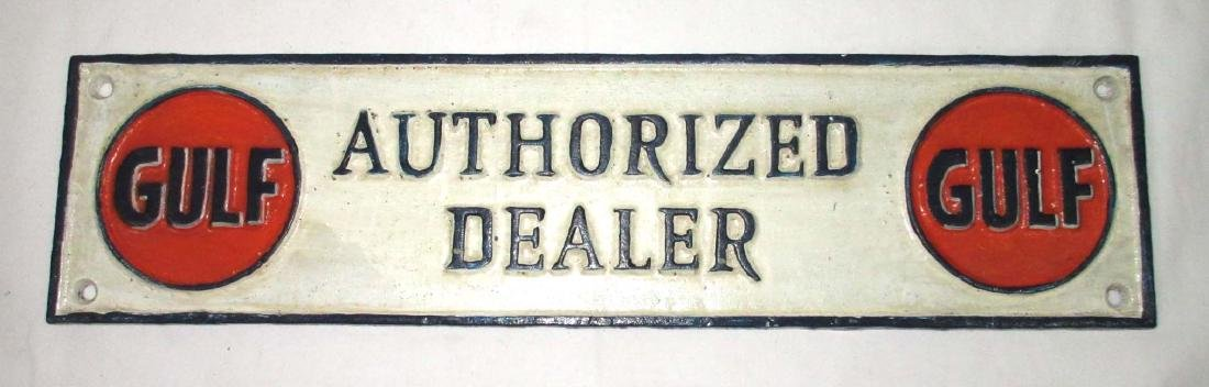 Modern Cast Iron Gulf Dealer Plaque