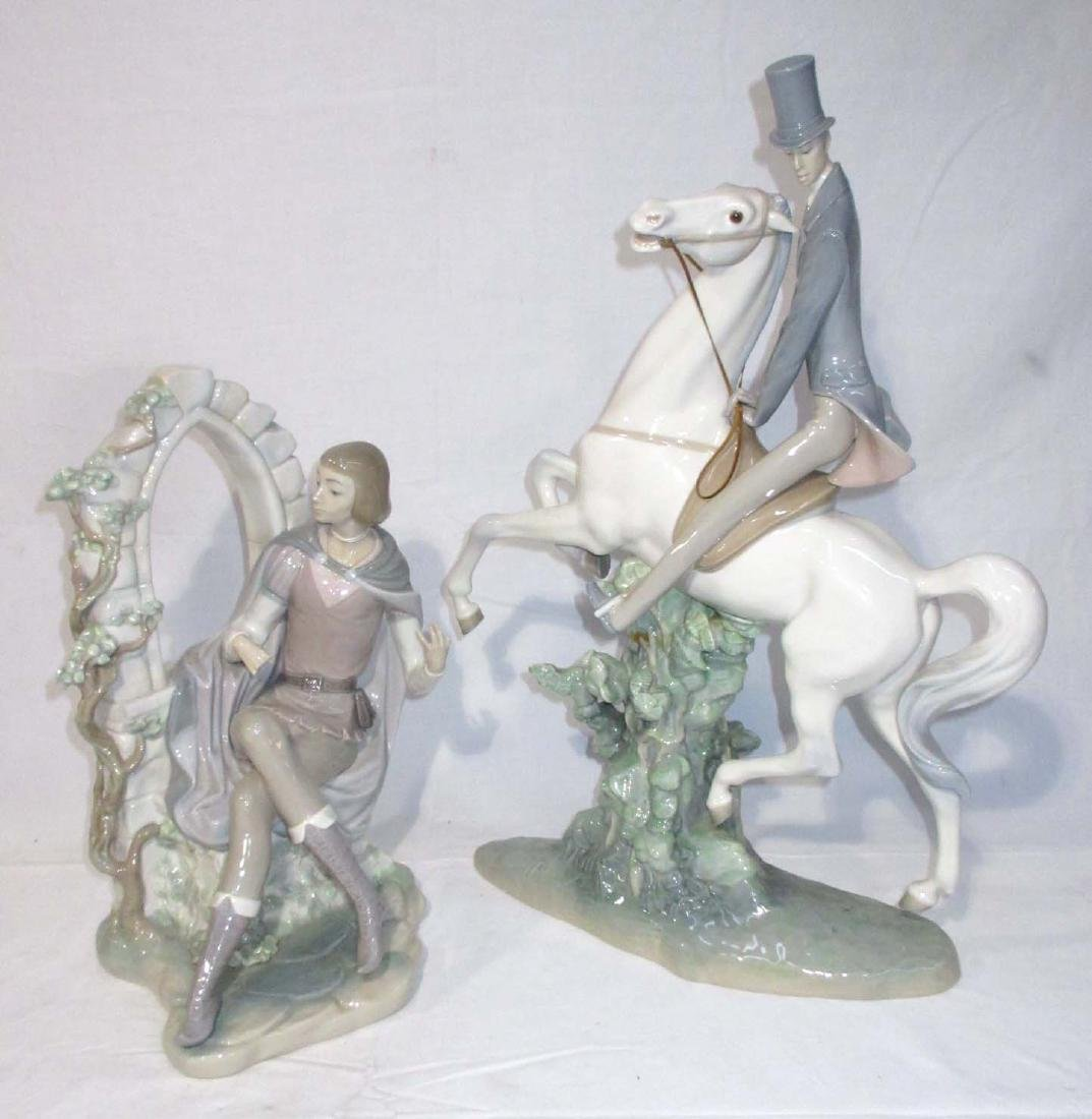 2 Large Lladro Figures Both As Is