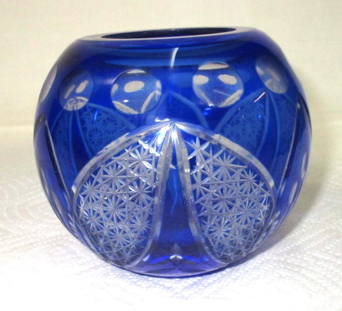 Blue Cut to Clear Bowl