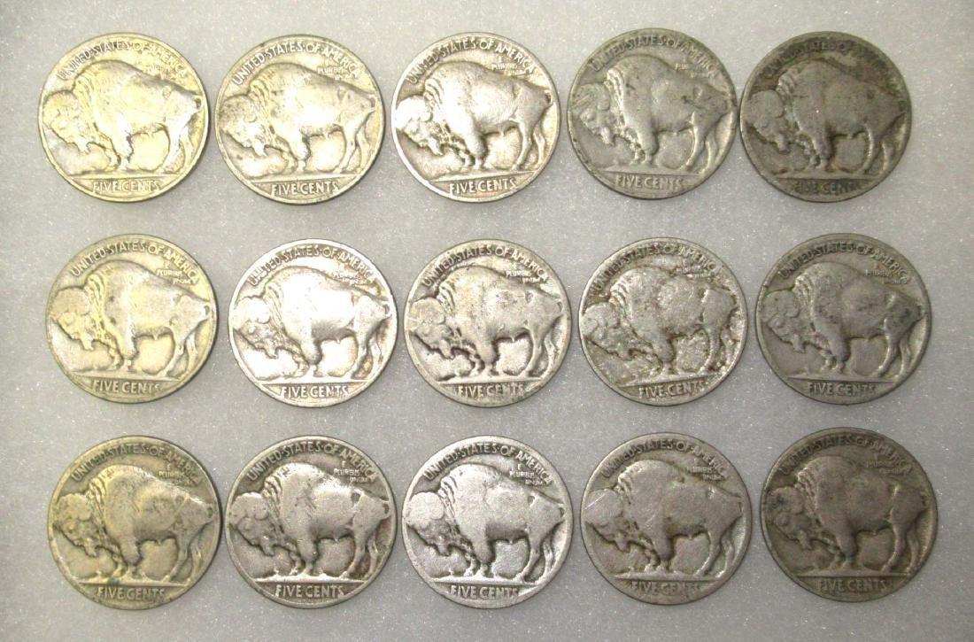 15 Buffalo Nickels