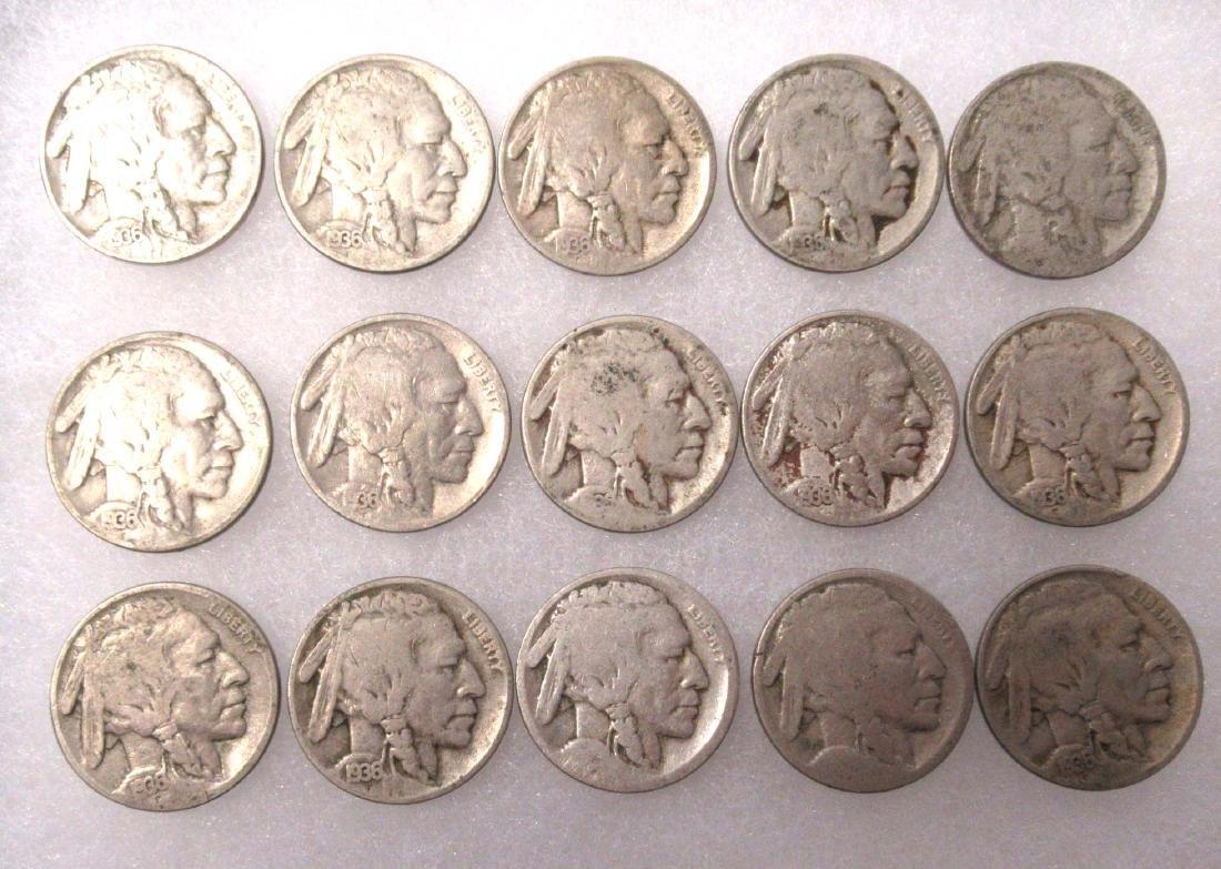 15 Buffalo Nickels - 2