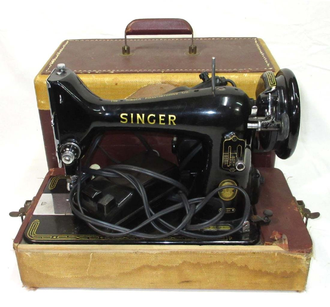 Electric Singer Sewing Machine in Case