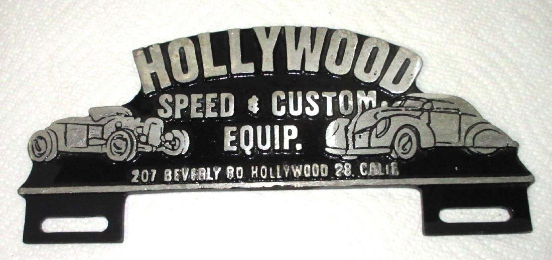 Modern Cast Hollywood License Plate Topper