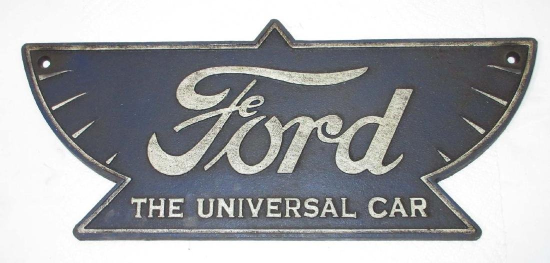 Modern Cast Iron Ford Plaque