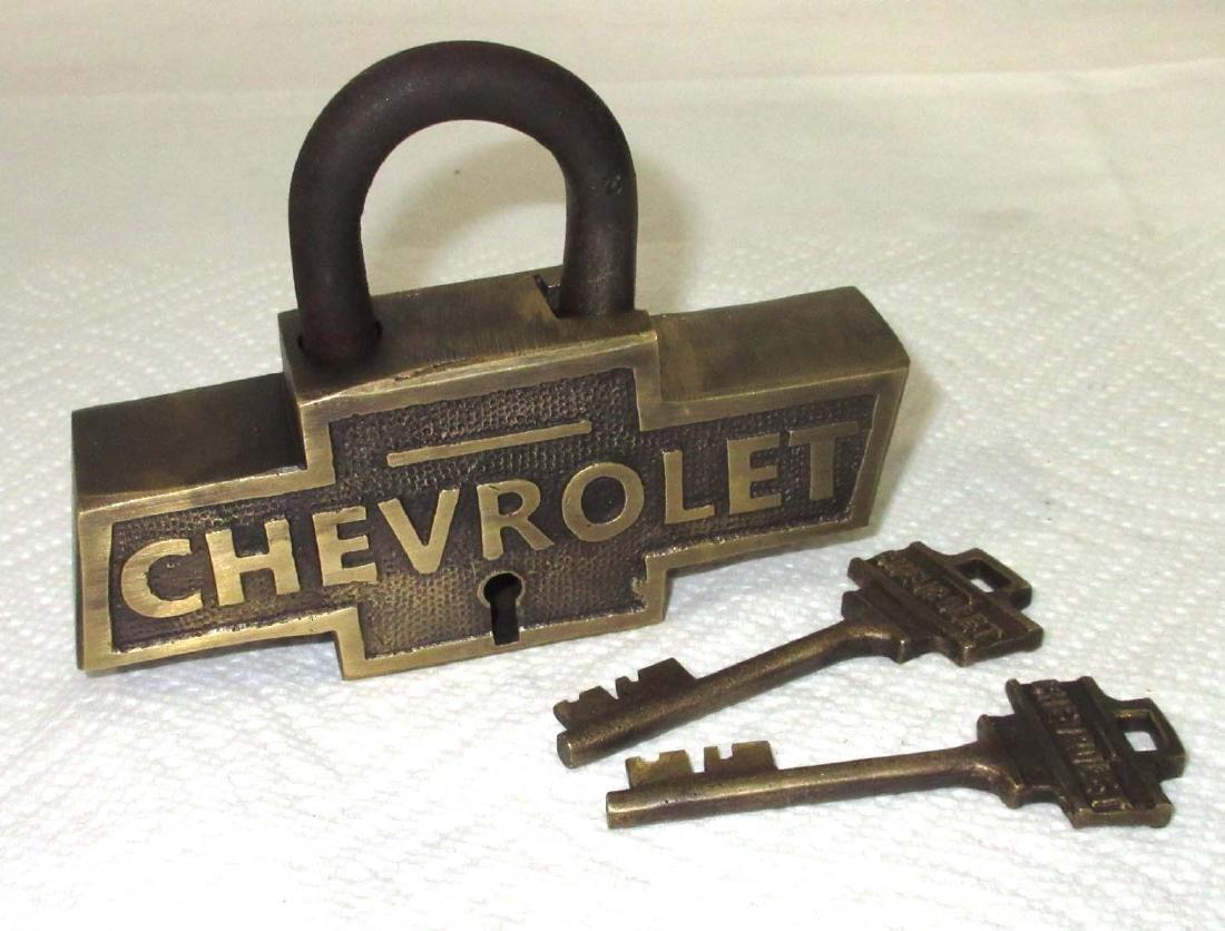 Modern Brass Chevrolet Lock & Keys
