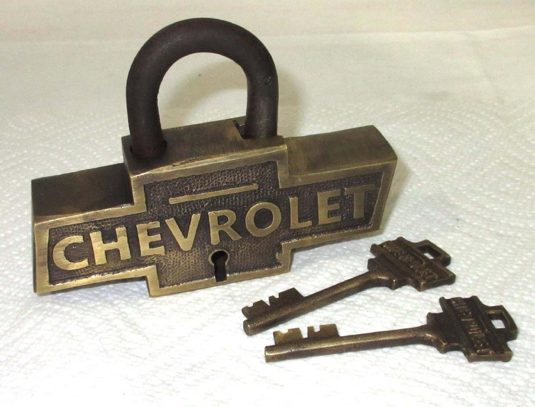 Modern Brass Chevrolet Lock & Keys