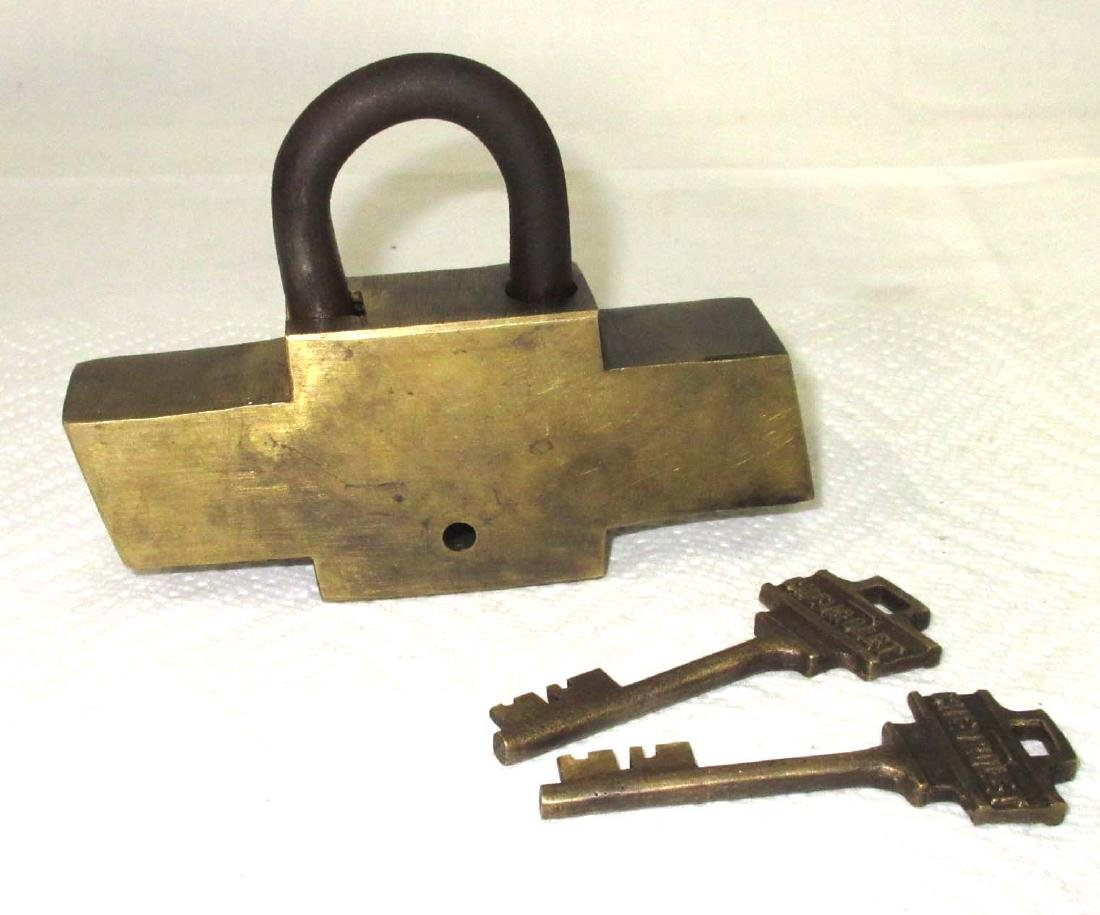 Modern Brass Chevrolet Lock & Keys - 2