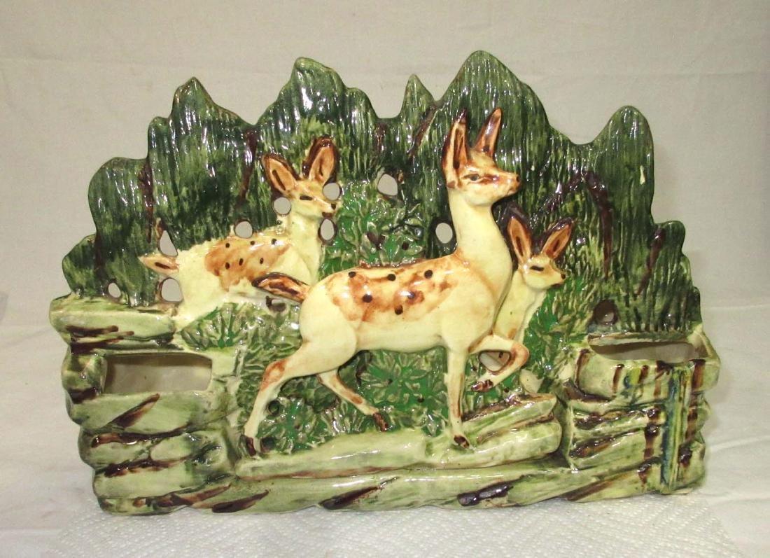 Large McCoy Planter w/ Deer