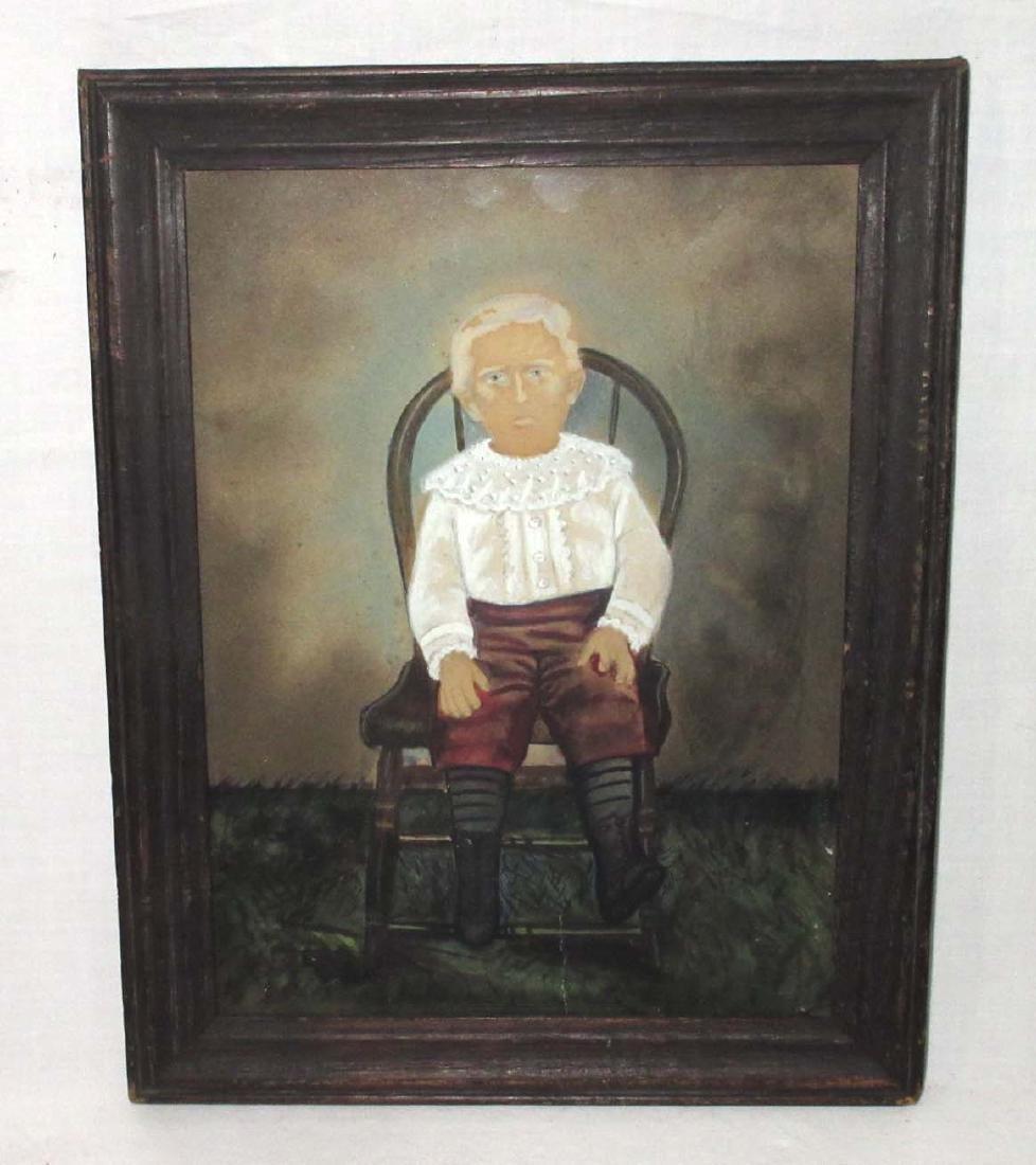 Framed H.P. Boy in Chair