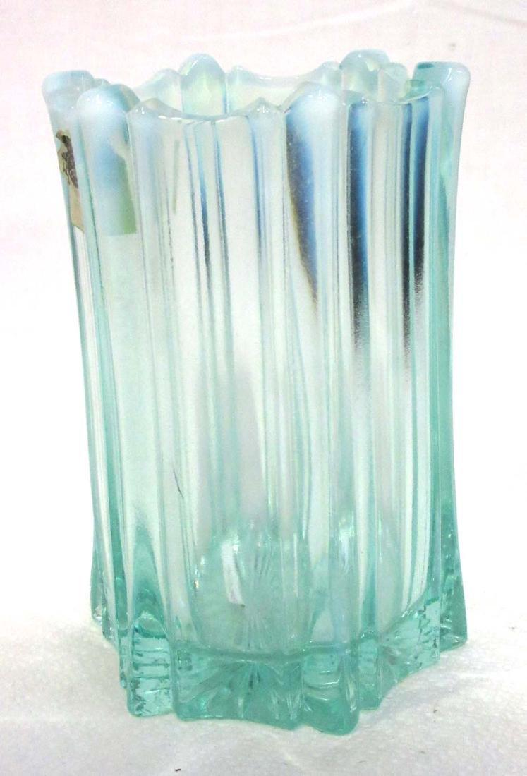 Fenton Aqua Opalescent Vase