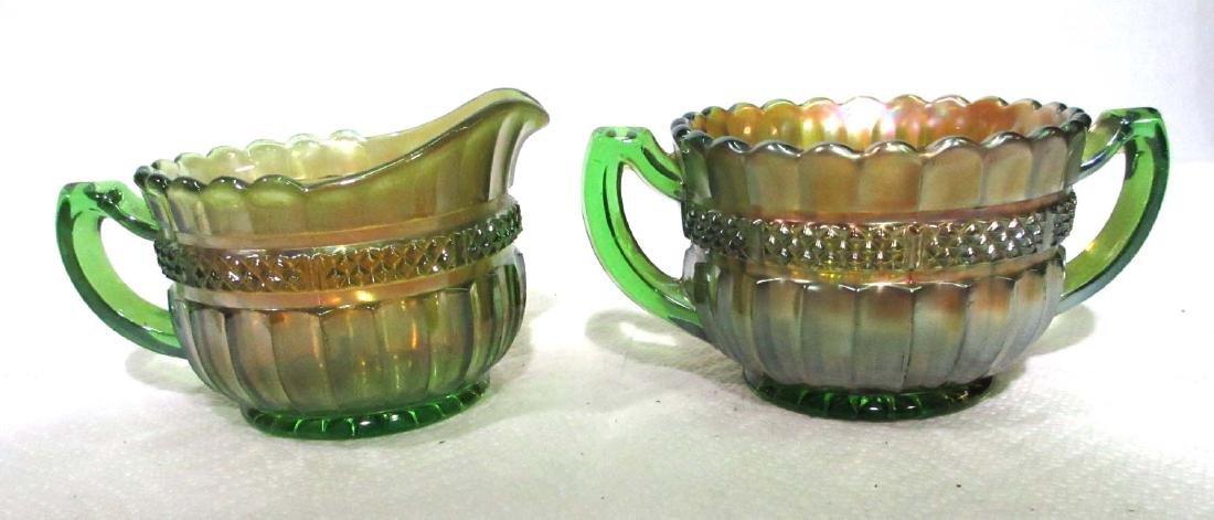 Northwood Carnival Glass Cream & Sugar