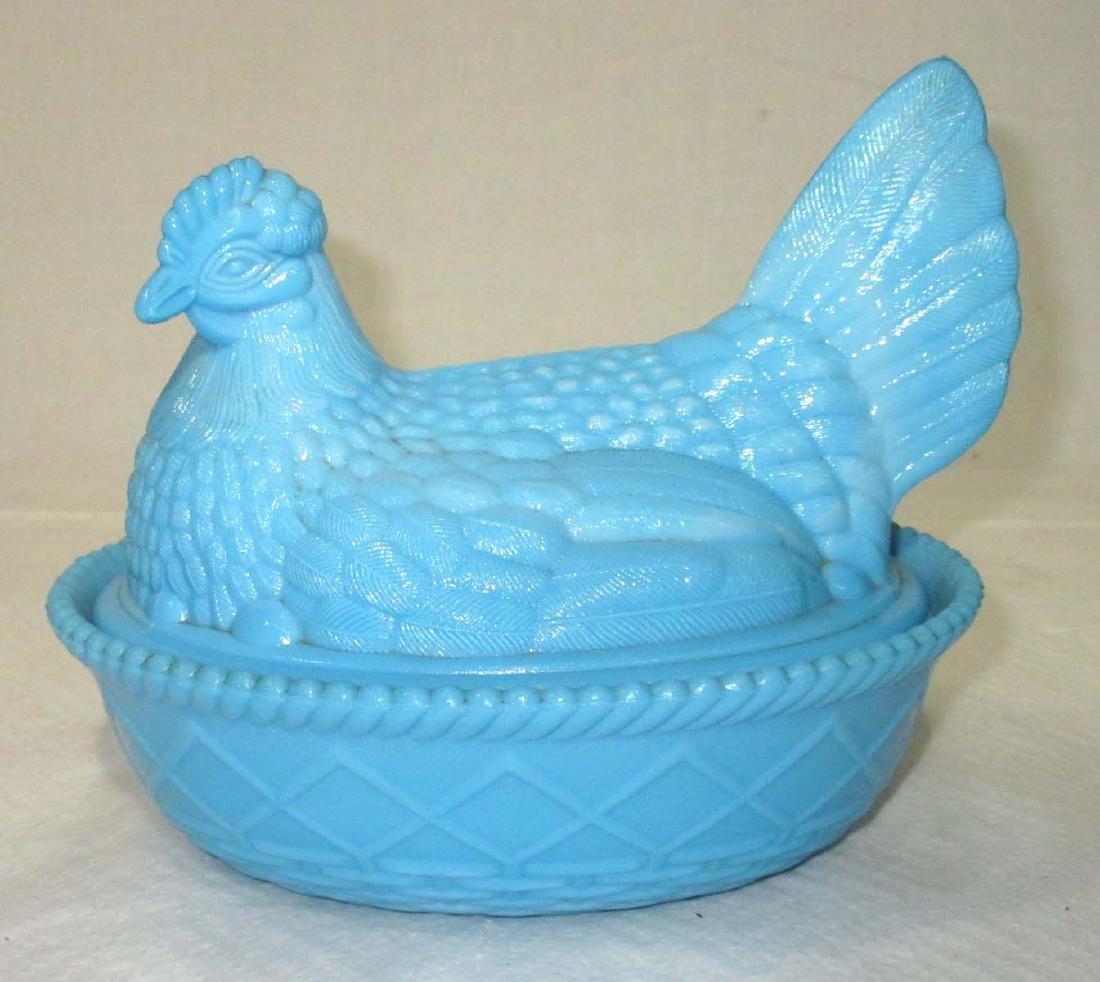 Vtg. Hen on Nest Covered Dish
