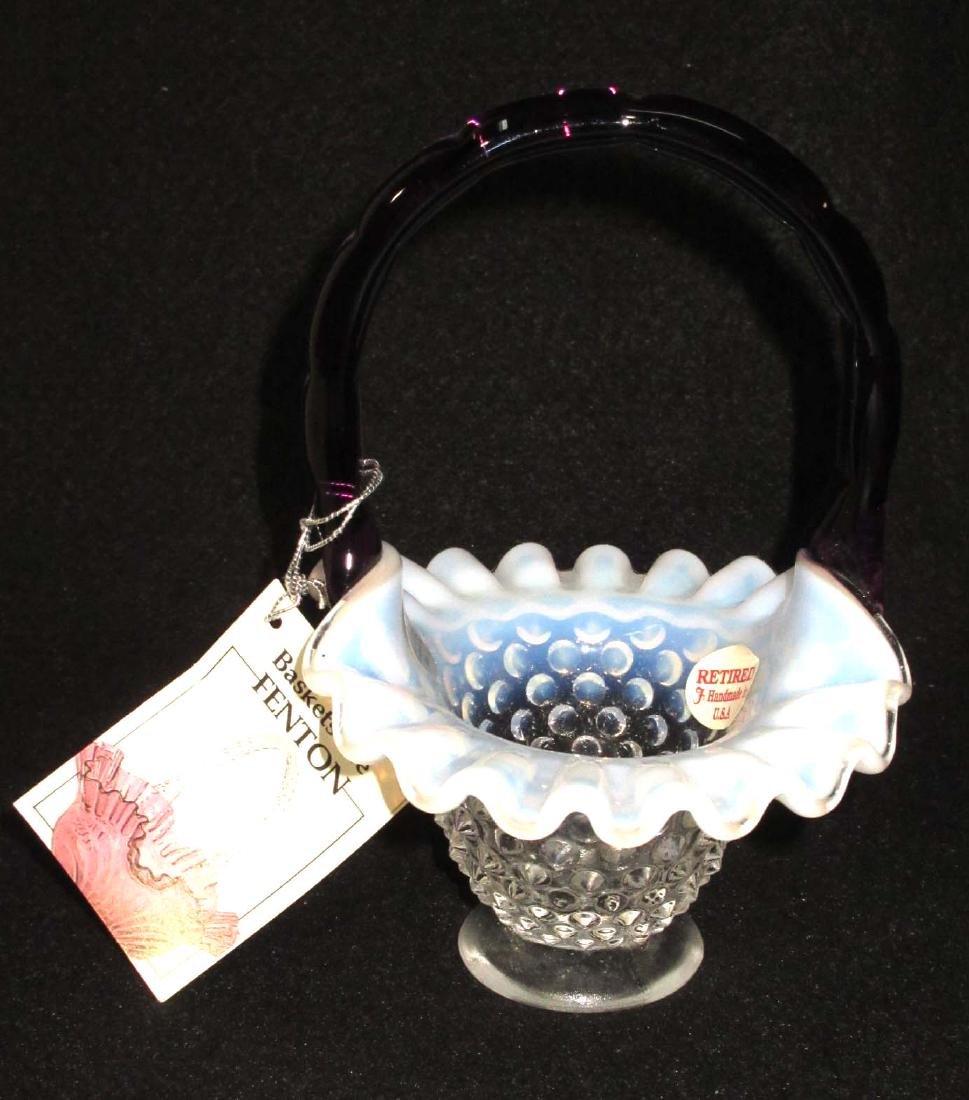 Fenton Glass Basket - 2