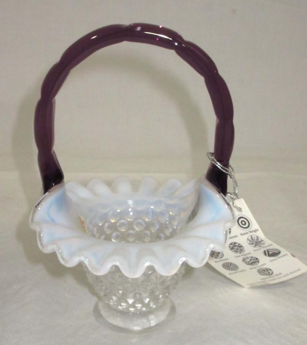 Fenton Glass Basket - 3