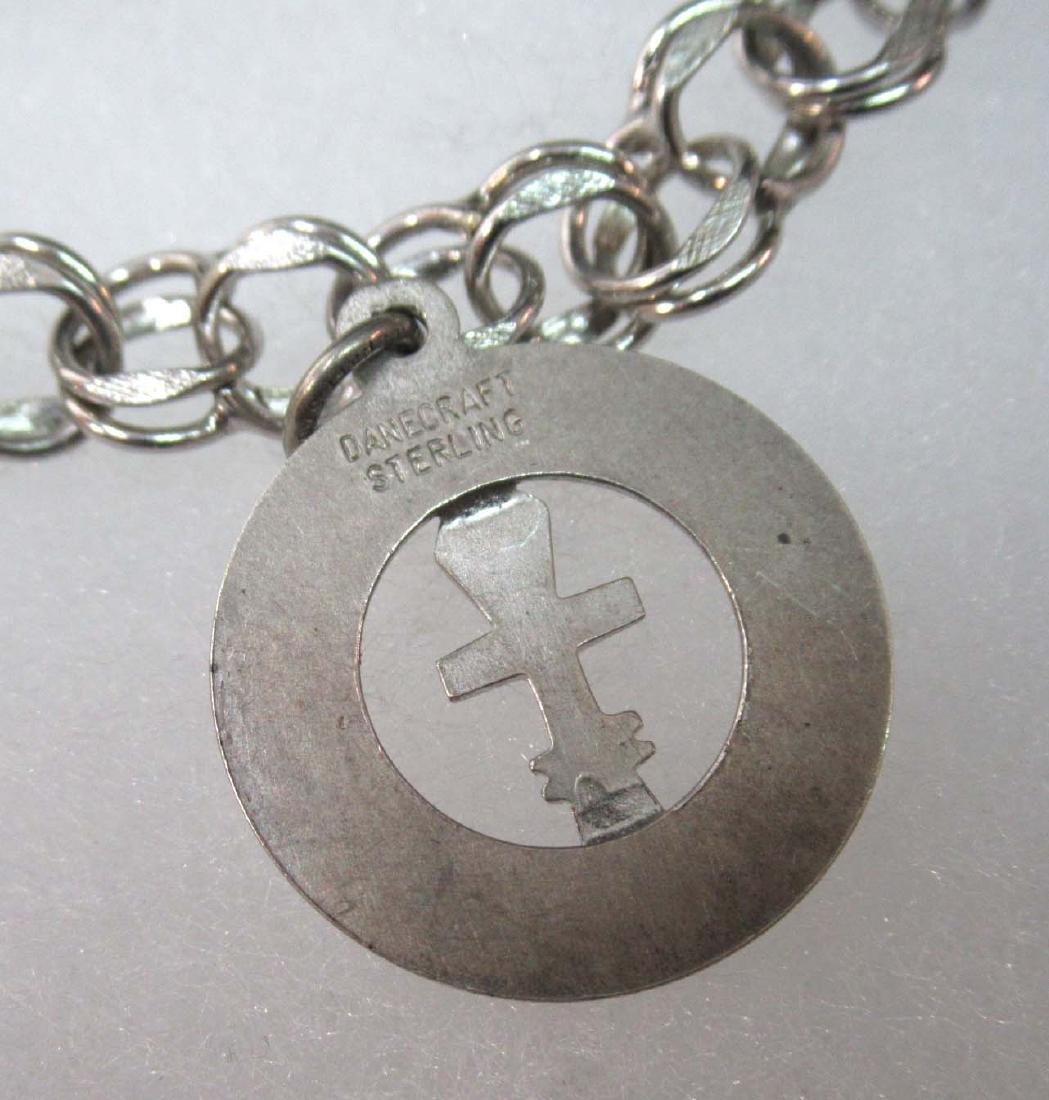 3 Sterling Charm Bracelets - 7