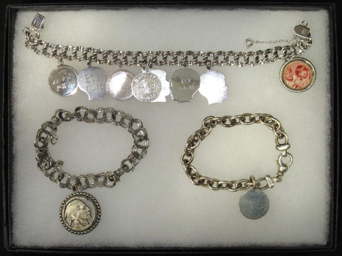 3 Sterling Charm Bracelets