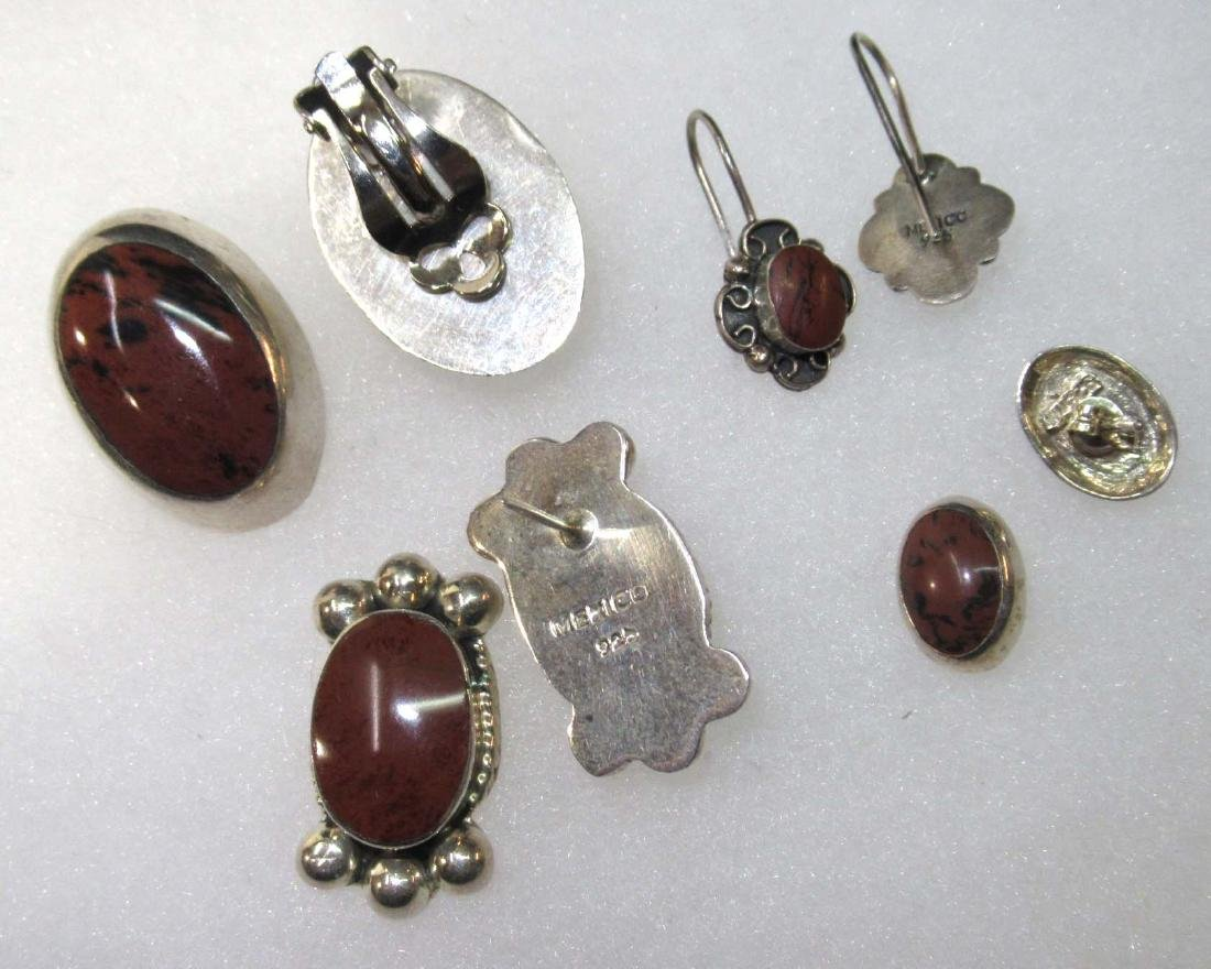 Sterling & Brownstone Jewelry Lot - 2