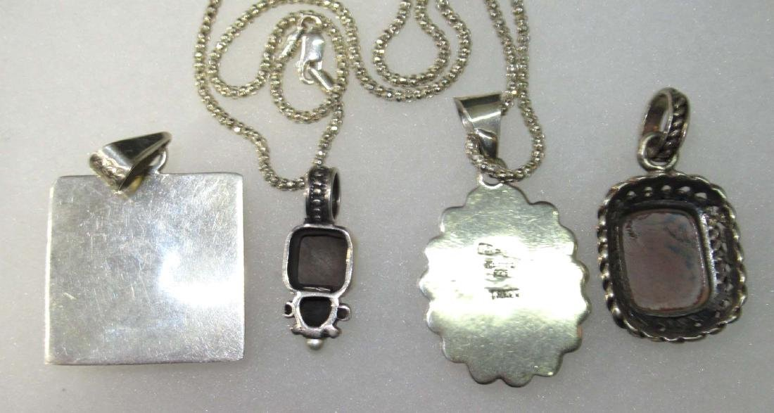 Sterling & Brownstone Jewelry Lot - 4