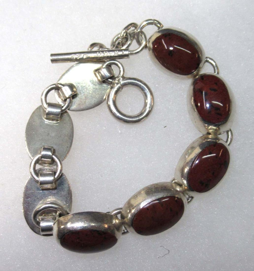 Sterling & Brownstone Jewelry Lot - 5