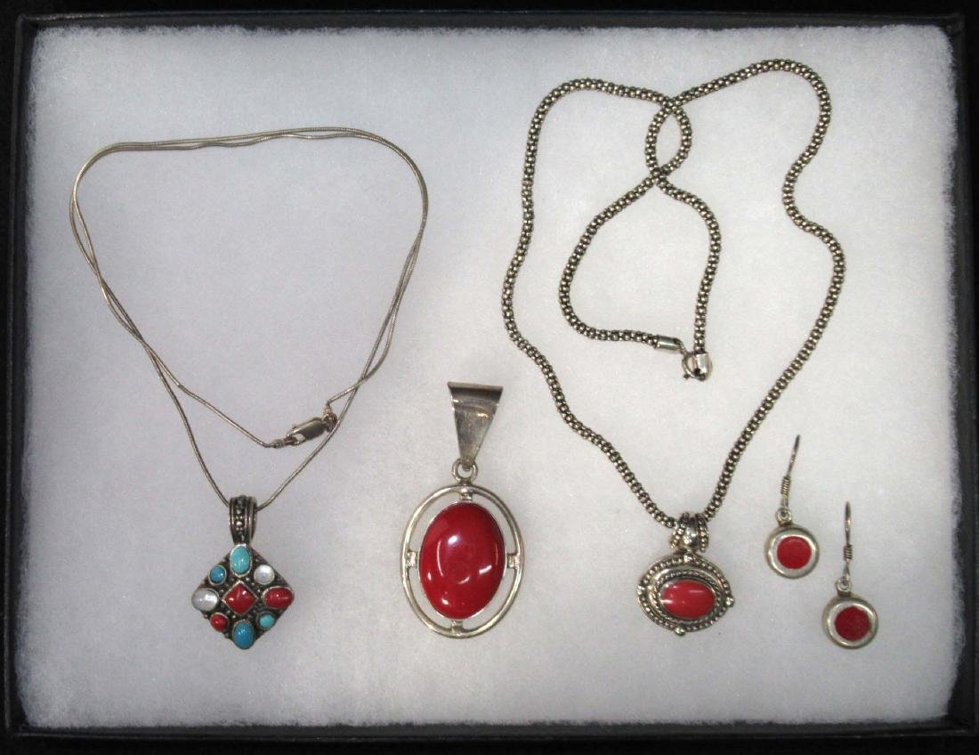 Sterling & Redstone Jewelry Lot